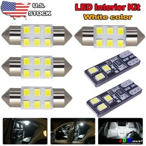 8x White Led Bulbs For Car Map Dome License Plate Light Interior Led Package Kit