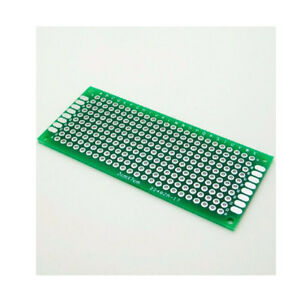 2 5 10pc Double Side 3x7 Cm Pcb Strip Board Printed Circuit Prototype Track Lw