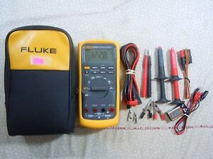 Fluke 87v Trms Multimeter Kit With Leads Temp Probe Fluke Case 57708