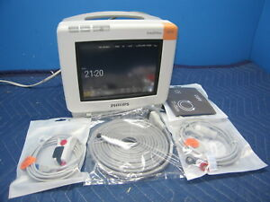 Philips Mp5 Intellivue Portable Patient Monitor Ekg Bp Spo2 New Cables Teste