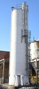 Vertical 47ft Tall Milling Silo 12ft Diameter Schenck Accurate Mechatron Feede