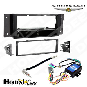 99 6506 Iso Din Car Stereo Radio Install Dash Kit Amp Turn On For Pacifica