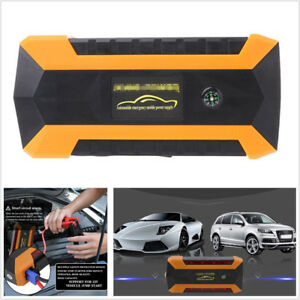 12v 89800mah Car Offroad Jump Starter Pack Booster Charger Battery 4usb With Box
