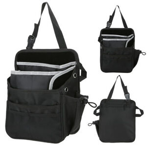 Black Car Seat Back Bag Organizer Storage Cup Ipad Phone Holder Multi Pocket New