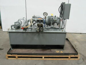 15hp 100 Gallon Power Unit Assembly W heat Exchanger Valves 460v 3ph