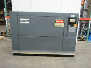 Atlas Copco Ga 30 75 75hp Rotary Screw Air Compressor 139psi 460v
