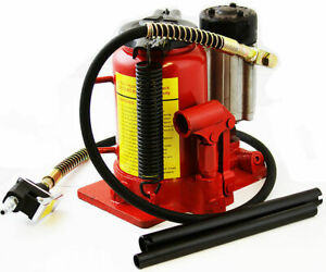 12 Ton Air Manual Pneumatic Hydraulic Bottle Jack Automotive Repair Tool Red