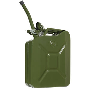 5 Gallon Decorative Jerry Can Gas Fuel Steel Tank Green Military Nato Style New