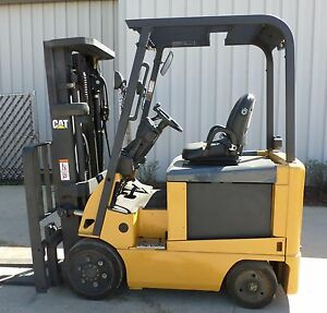 Caterpillar Model E5000 2008 5000lb Capacity Great 4 Wheel Electric Forklift