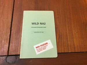 Wild Heerbrugg Na2 Universal Automatic Level Instructions For Use Surveyor