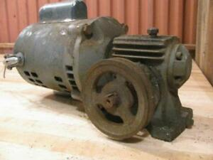 Heavy Duty Boston 10 1 Ge 1 4 Hp Electric Motor Speed Reducer Gear Box 172 5 Rpm