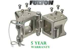 Fulton Fold away Bolt on Hinge Kit 3 X 3 Trailer Beam Zinc Rating 5 000 Lb