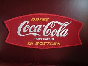DRINK COCA-COLA IN BOTTLES 1950's FISH TAIL UNIFORM PATCH ORIGINAL VINTAGE 9X4