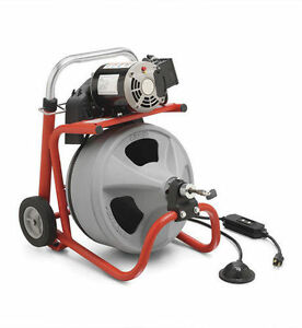New Ridgid K 400 Drum Machine Drain Cleaning Machine 1 2 X 75 Cable 26998