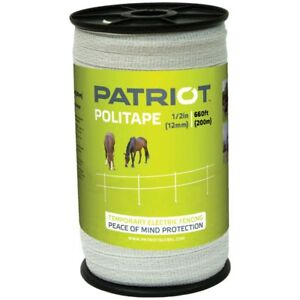 Patriot 821451 Politape 660 Ft Roll 1 2 Electric Fence Wire Horse Poly Tape