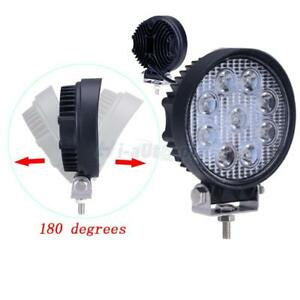 27w Spot Round Led Work Light Offroad Fog Driving Drl Suv Atv Truck 4wd