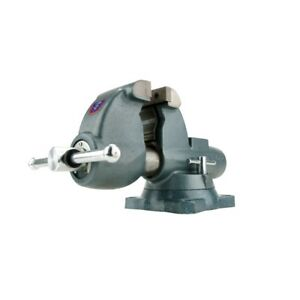 Wilton 10400 All weather 3 1 2 Jaw Round Channel Outdoor Vise With Swivel Base