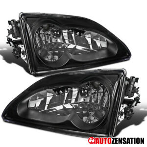 For 1994 1998 Ford Mustang Svt Gt Black Headlights Lamps Replacement 95 96 97