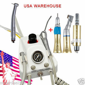 Usa Portable Dental Turbine Unit Sn4 High low Speed Handpiece Gold 4 Hole Ygh