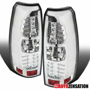 For 2007 2012 Chevy Avalanche Clear Led Tail Lights Reverse Brake Lamps Pair