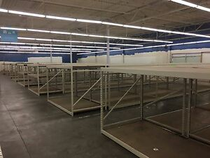 Madix Wide Span Rack Shelving Uprights Beams Deck Warehouse Fixtures Liquidation