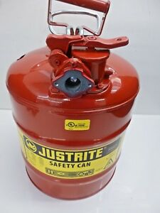 New Justrite Type Ii Safety Can 17 1 2 In H Red 7250130 Dented See Images