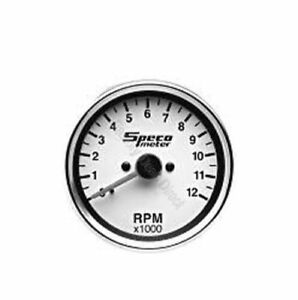 Genuine Speco Tacho Meter Tachometer Motorcycle 85mm White Dial 0 12000 520 10
