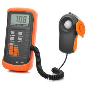 2 3 Screen Lx1330b Digital Lux Meter Orange And Deep Grey