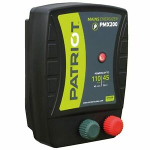 Patriot Pmx200 Electric Fence Charger Energizer 50 Mile 165 Acre 110v Powered