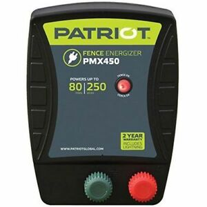 Patriot Pmx450 Electric Fence Charger Energizer 4 5 Joule 80 Mile 250 Acre
