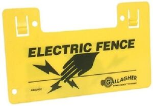 Gallagher 5 Pack Highly Visible Electric Fence Warning Signs 9 5 X 5 5 New