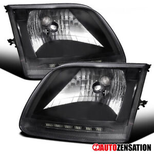 For Ford 1997 2002 Expedition 1997 2003 F 150 Black Clear Headlights Lamps Pair