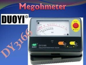 Dy3166 1000v Analogue Insulation Tester Resistor Meter