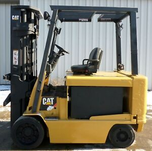 Caterpillar Model E8000 2008 8000lb Capacity Great 4 Wheel Electric Forklift