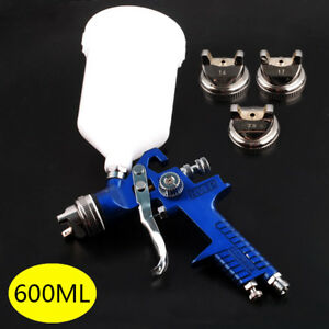 Air Paint Spray Gun Hvlp 1 4 1 7 2 0mm Sprayer Gravity Feed Auto Painting