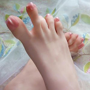3d Lifelike Silicone Mannequin Foot Clones Arbitrarily bent posed soft Hot F764