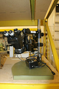 Bausch Lomb 1x 2 5x Microscope With Lamp