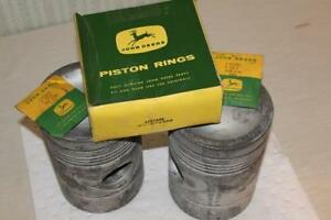 New Old Stock Genuine John Deere 70d 045 Pistons Rings Keepers Af3766r Af3769r