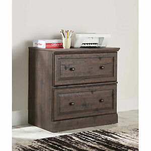 New Rustic Wood Coffee Oak 2 Drawer Legal Lateral File Cabinet Table Office Home