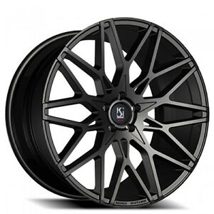 22 Staggered Giovanna Wheels Funen Black Rims And Tires With Tpms