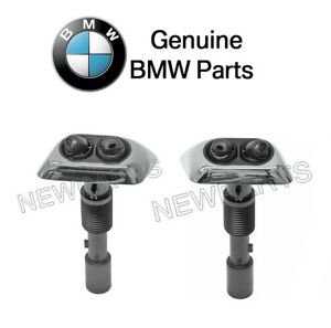 For Bmw E38 740i 740il Set Of Left Right Chrome Headlight Washer Nozzle Oes