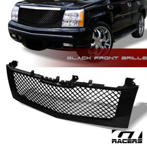 For 2002 2006 Cadillac Escalade Glossy Black Mesh Front Hood Bumper Grille Guard