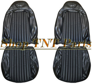 1974 Barracuda Challenger Bucket Seat Covers Front Upholstery Skins Cuda Black