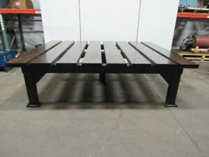 2 1 2 Thick Heavy Duty Steel Welding Layout Work Table Bench 116 1 2x95x33 1 2