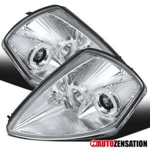 2000 2005 Mitsubishi Eclipse Led Dual Halo Clear Projector Headlights Lamps Pair