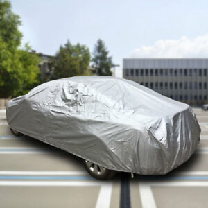 For Universal Silver Uv Water Raindust Proof Outdoor Full Car Cover Size 3xl