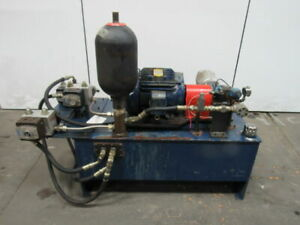75 Gal Hydraulic Power Unit 15hp 230 460v W accumulator Vickers Pump