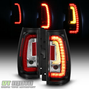 Blk 2007 2014 Chevy Suburban Tahoe Yukon Led Signal Light Tube Tail Lights Lamps