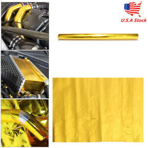 20 X 20 Gold Reflective Heat Shield Tape For Thermal Racing Engine Car Parts