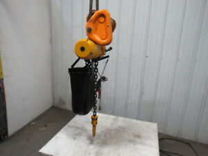 Harrington Tcr 3000c Pneumatic Air Chain Hoist 3 Ton 14 6 Lift W trolley